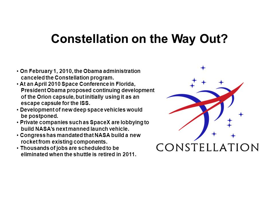 Constellation on the Way Out
