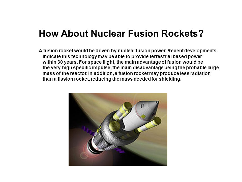 How About Nuclear Fusion Rockets