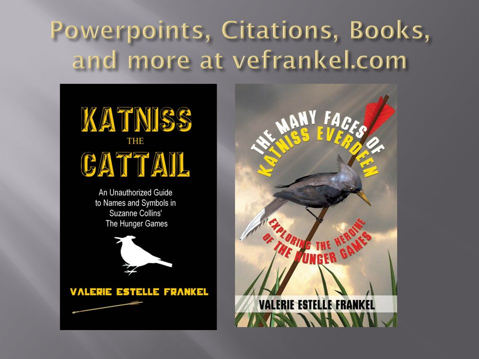 Powerpoints, Citations, Books, and more at vefrankel.com