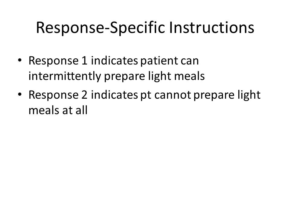 Response-Specific Instructions
