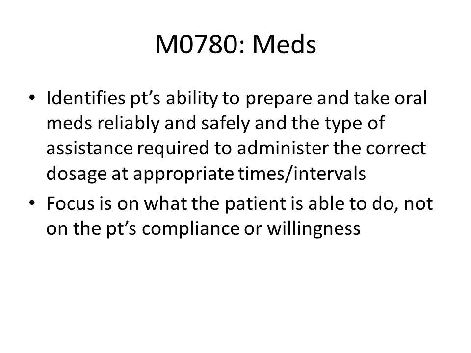 M0780: Meds