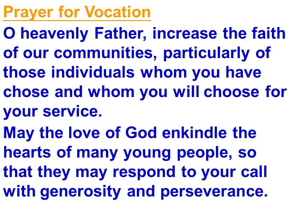 Prayer for Vocation