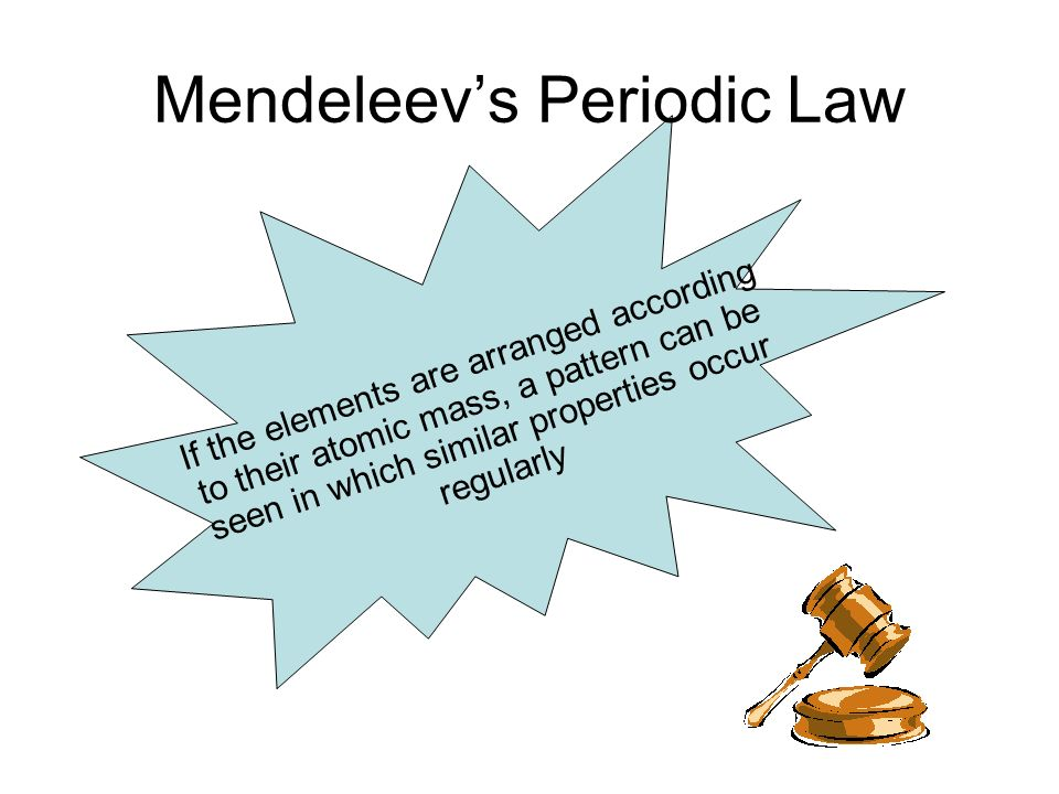 Periodic Law Example Trends in the P...