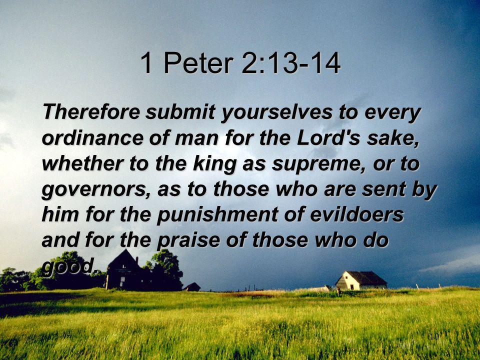 1 Peter 2:13-14