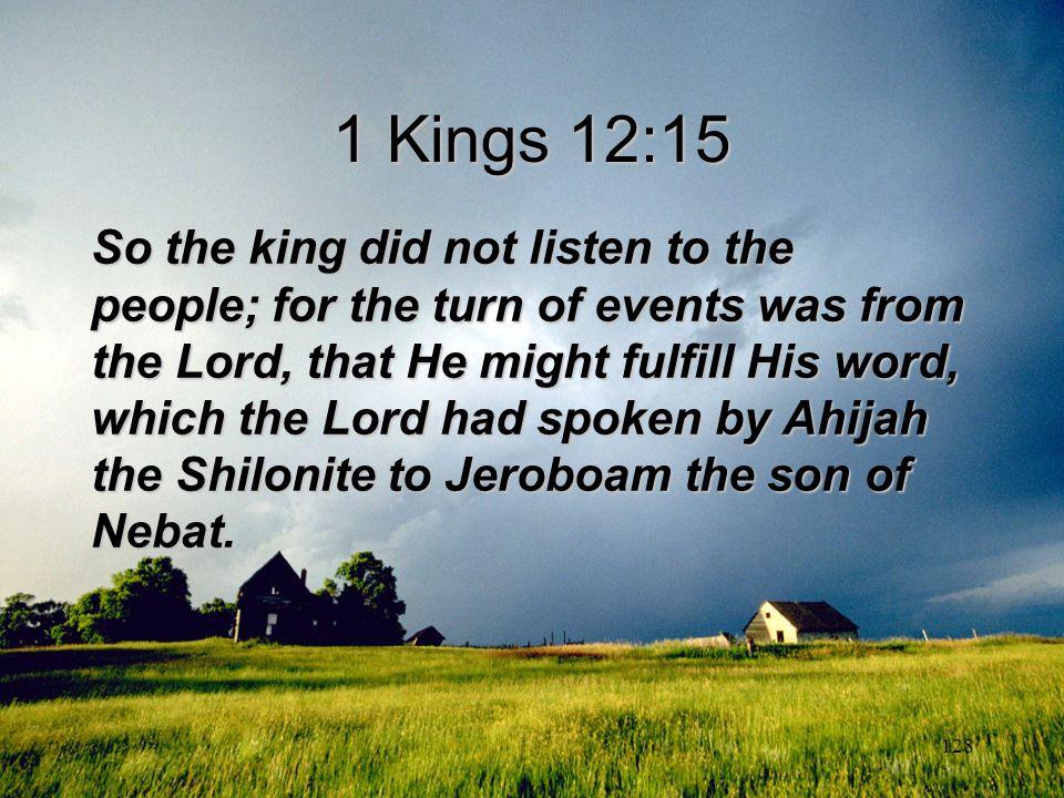 1 Kings 12:15