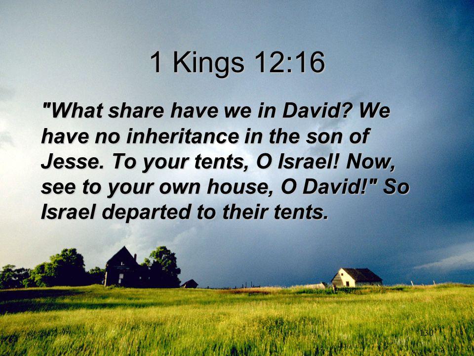 1 Kings 12:16