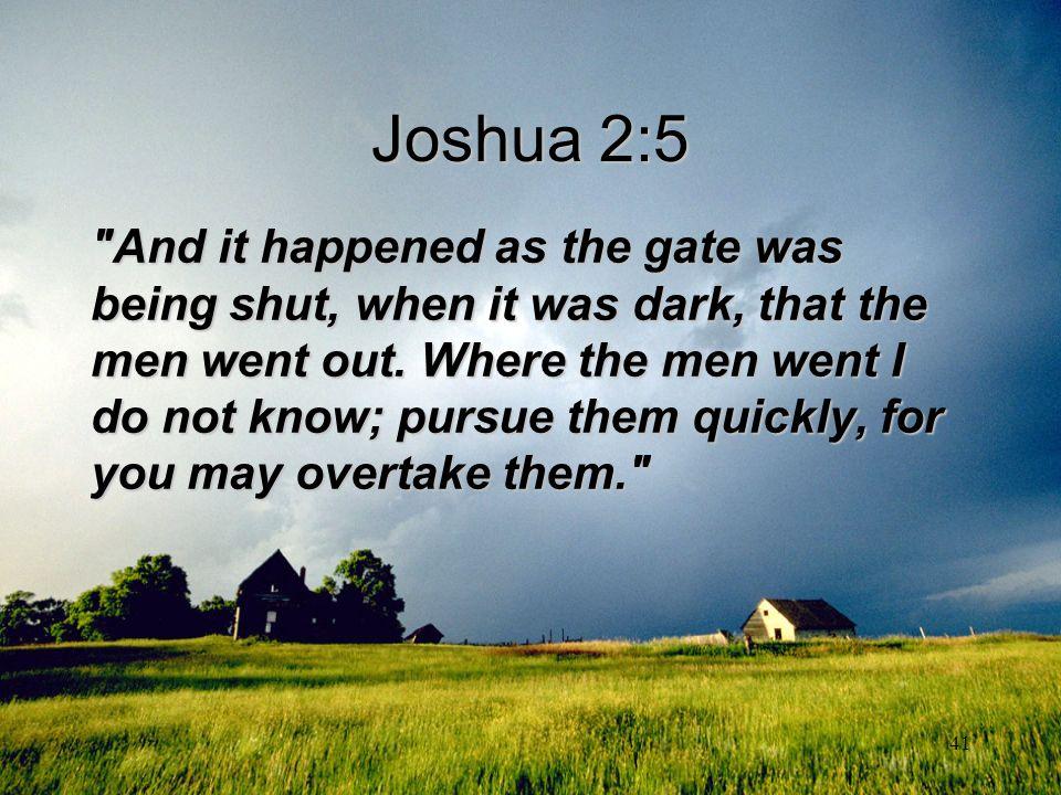 Joshua 2:5