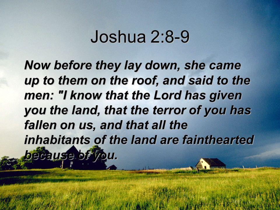 Joshua 2:8-9