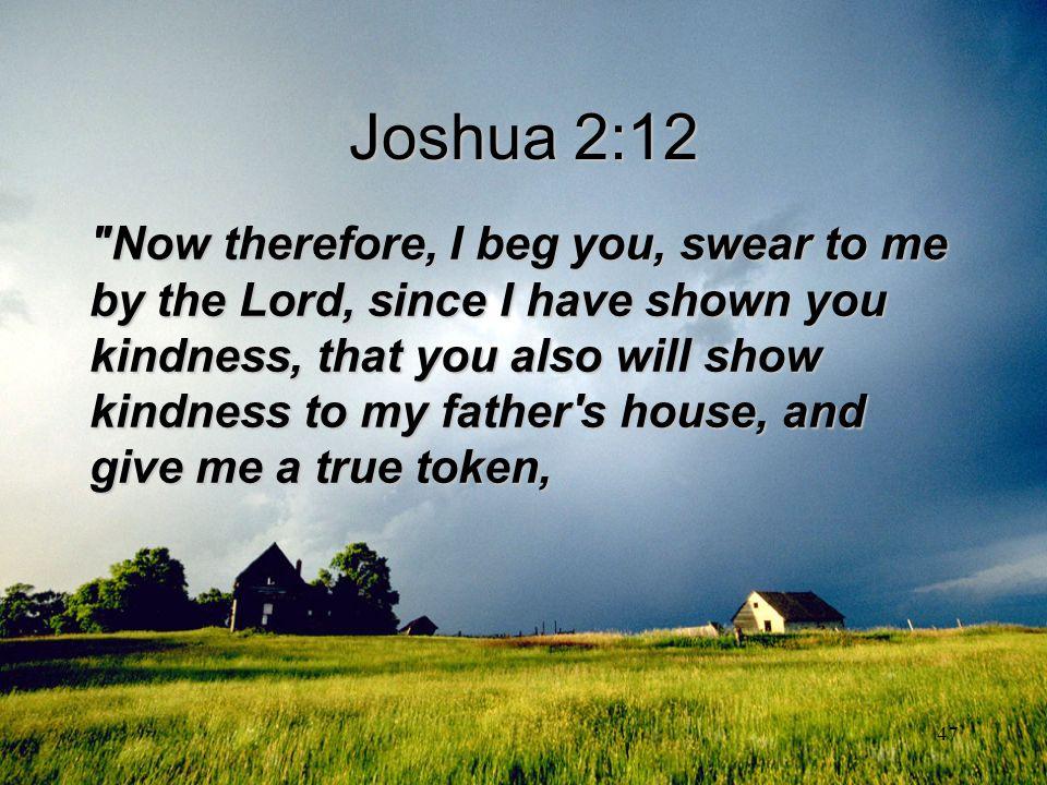 Joshua 2:12