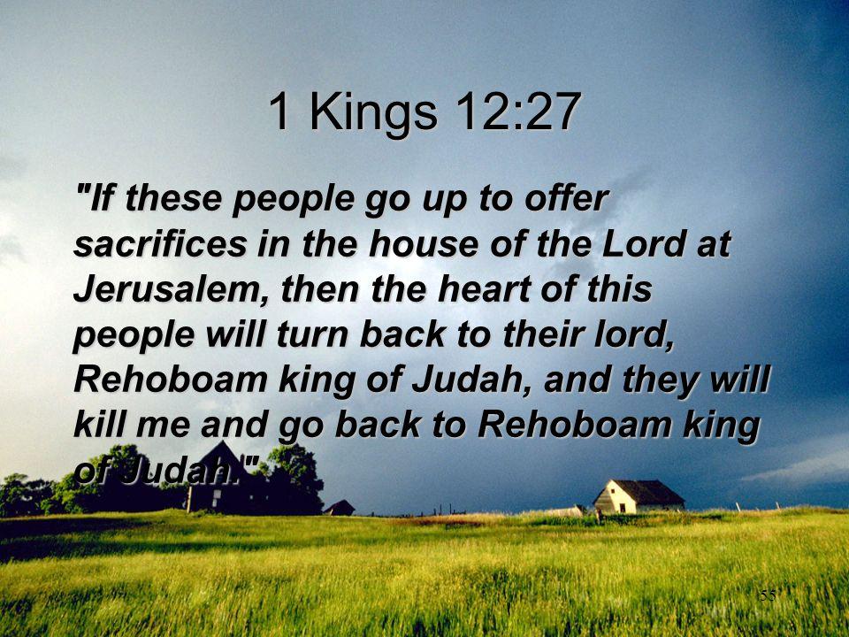 1 Kings 12:27
