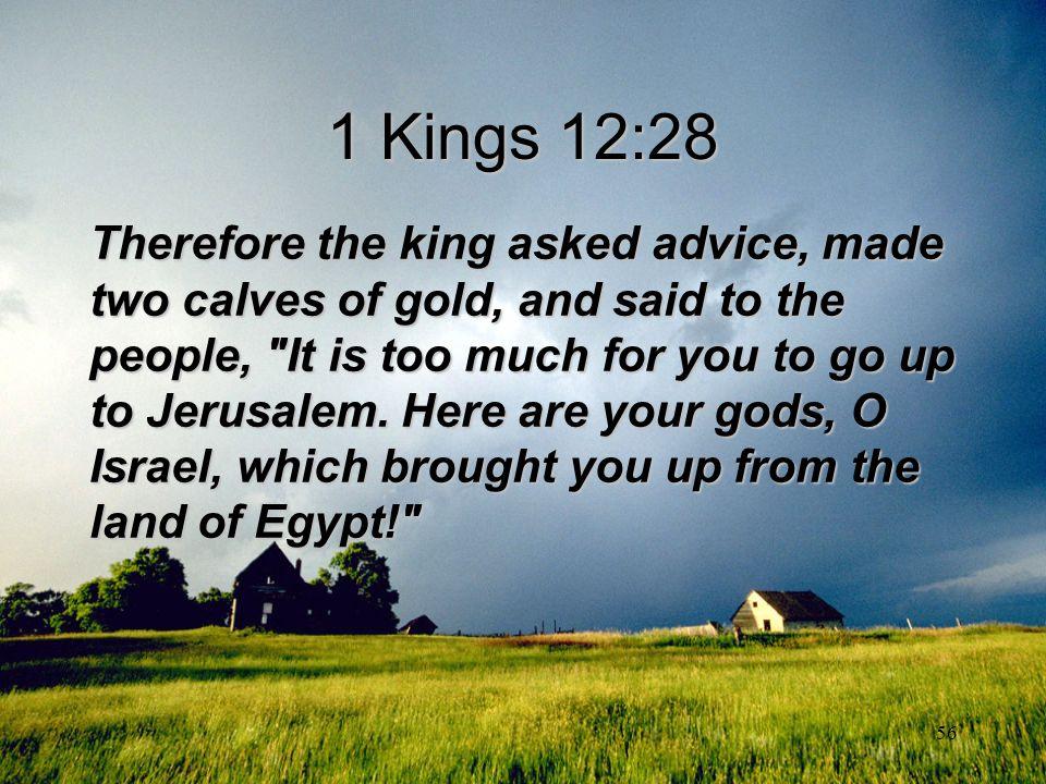 1 Kings 12:28
