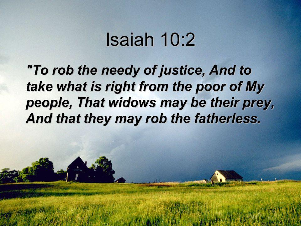 Isaiah 10:2