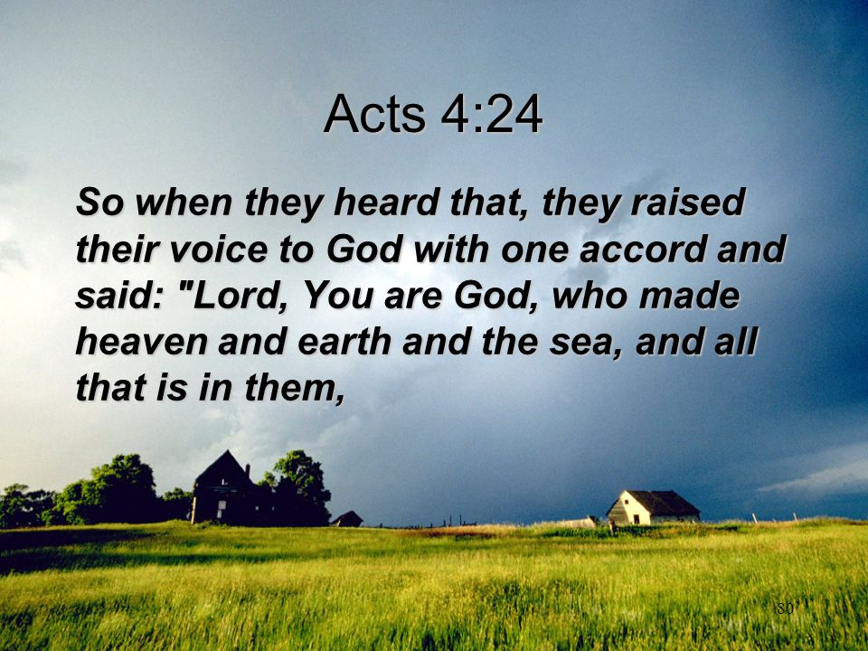 Acts 4:24