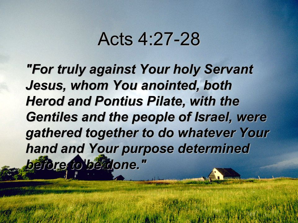 Acts 4:27-28
