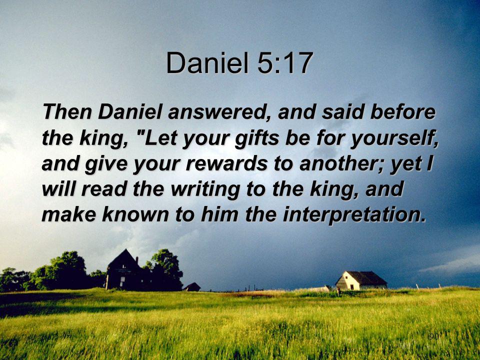 Daniel 5:17