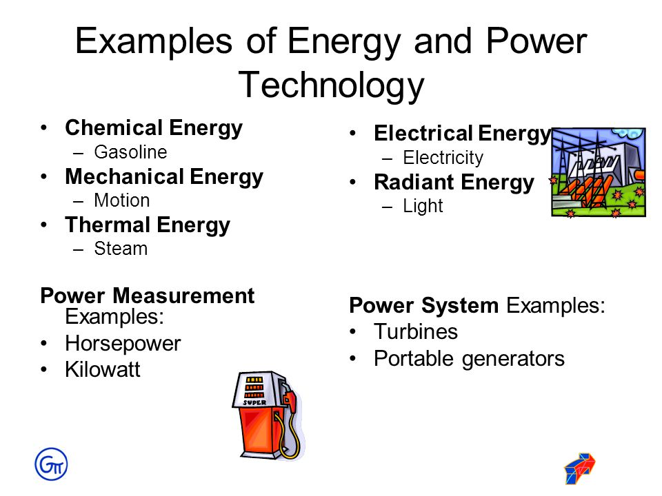 Examples Of Energy And Power Technology