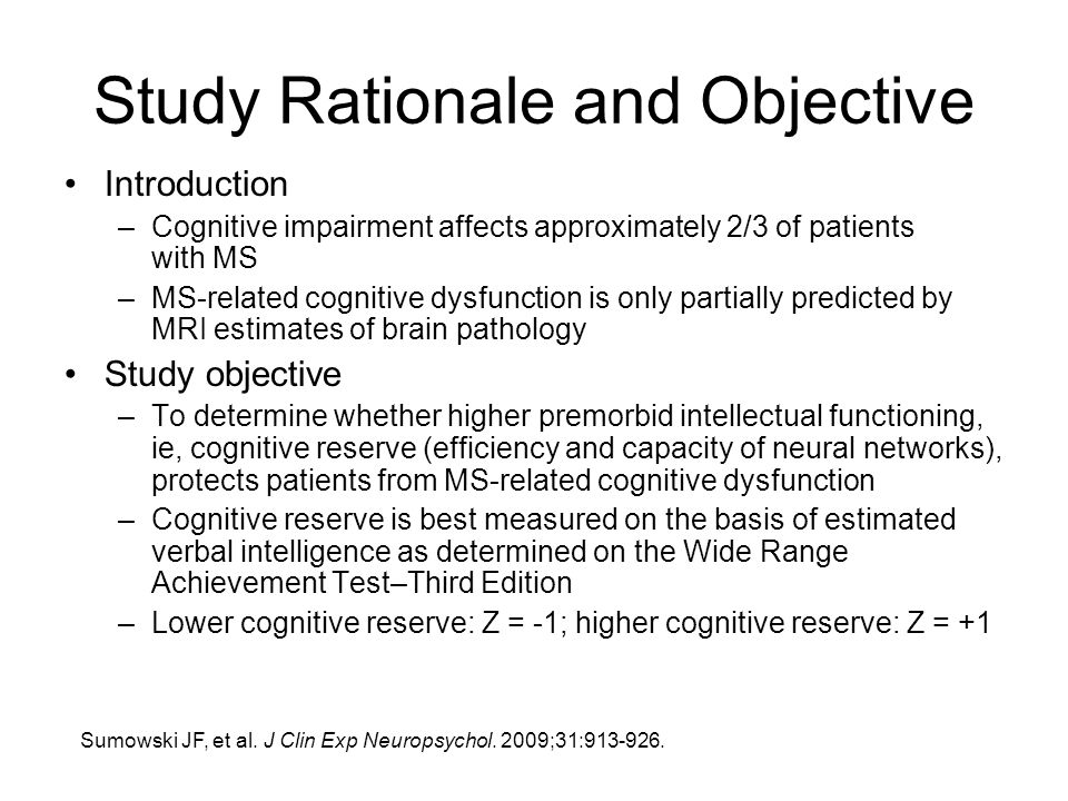 Study Rationale and Objective