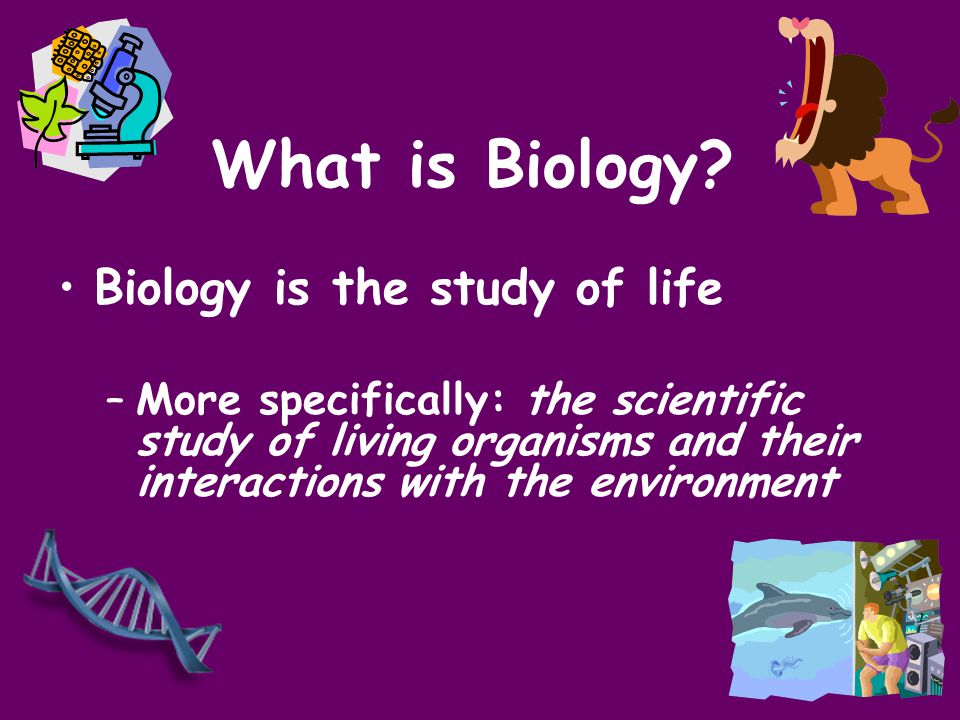 What is Biology Biology is the study of life