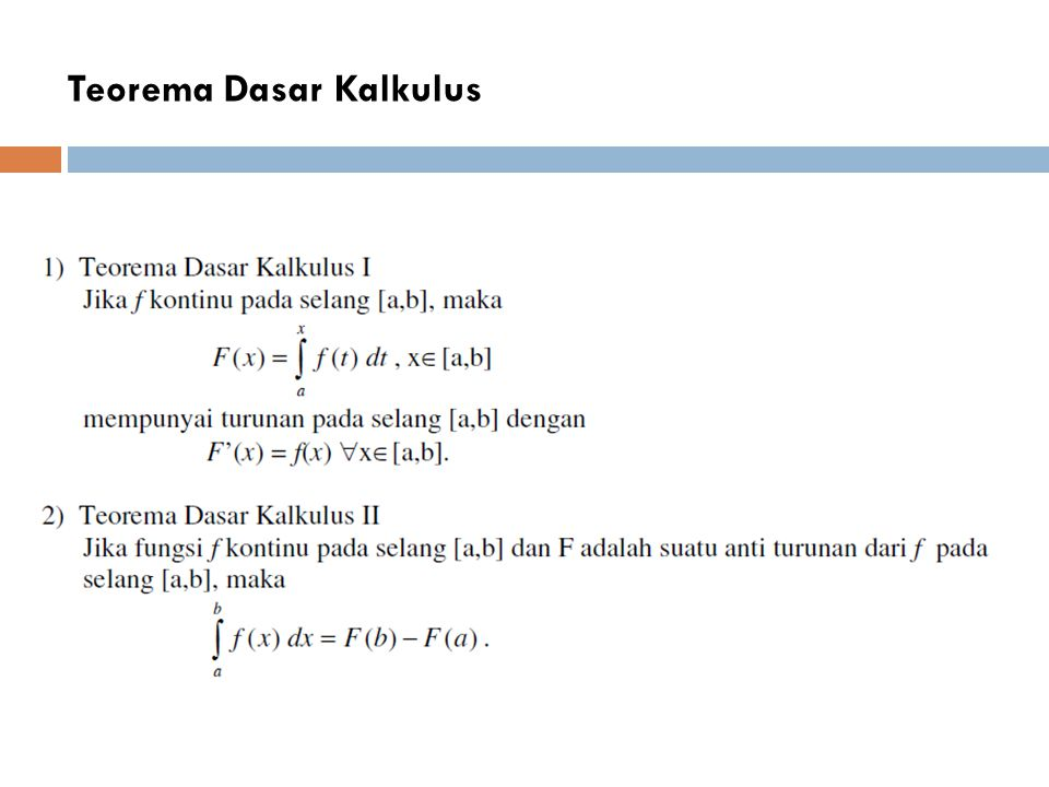 Teorema Dasar Kalkulus