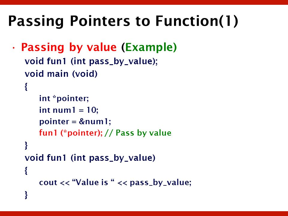 Passing Pointers to Function(1)