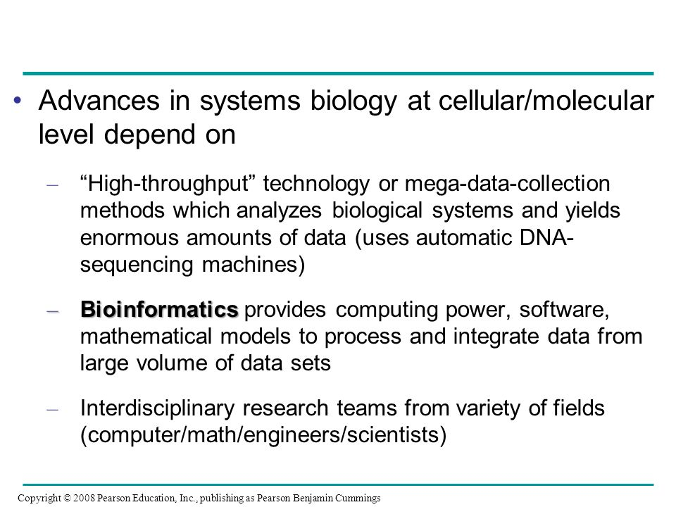 Advances in systems biology at cellular/molecular level depend on