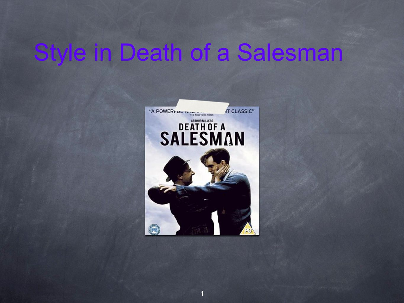 Style in Death of a Salesman