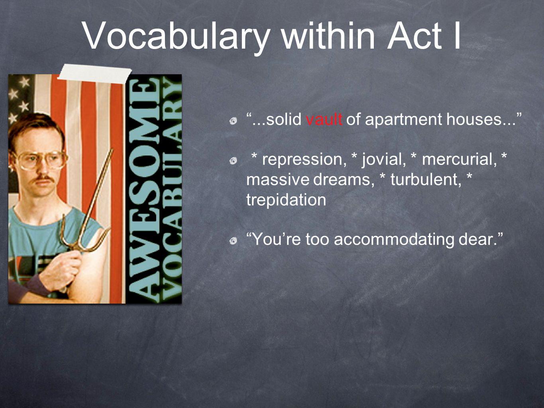 Vocabulary within Act I