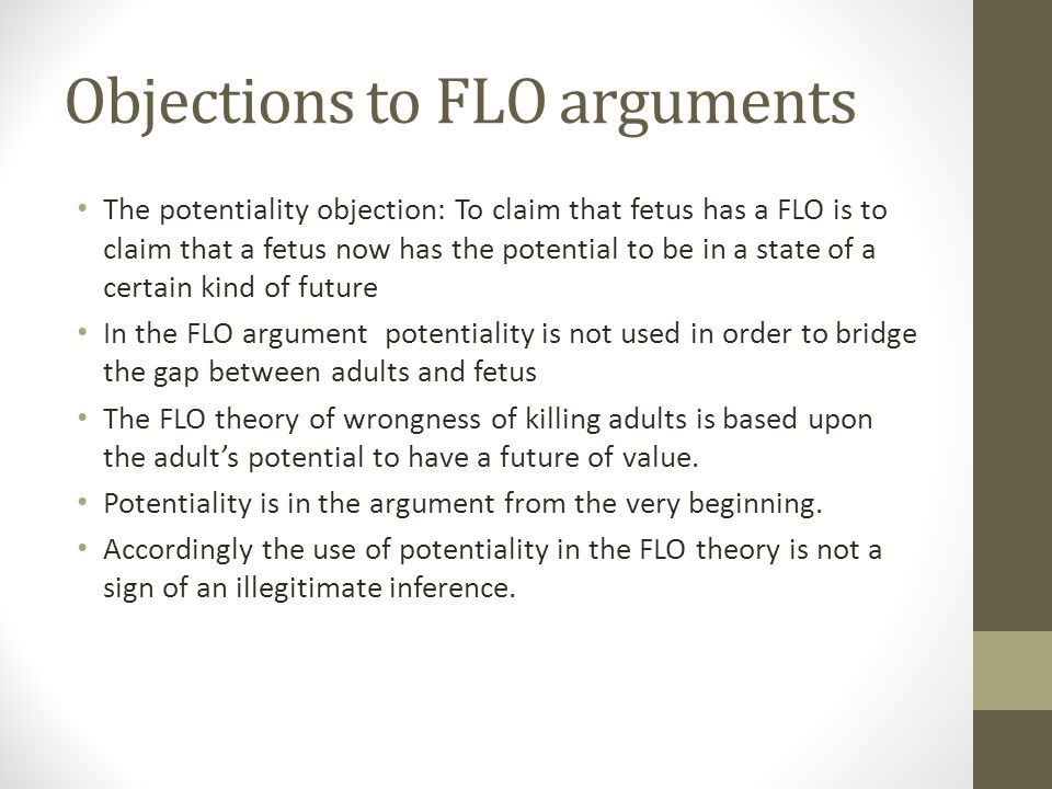 Objections to FLO arguments