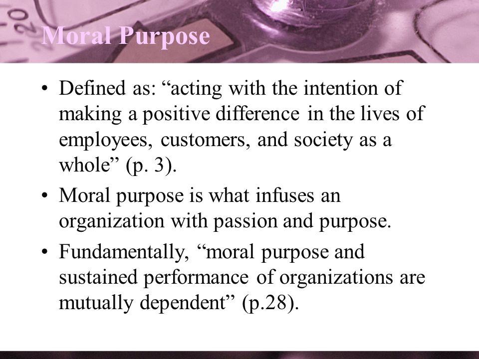 Moral Purpose