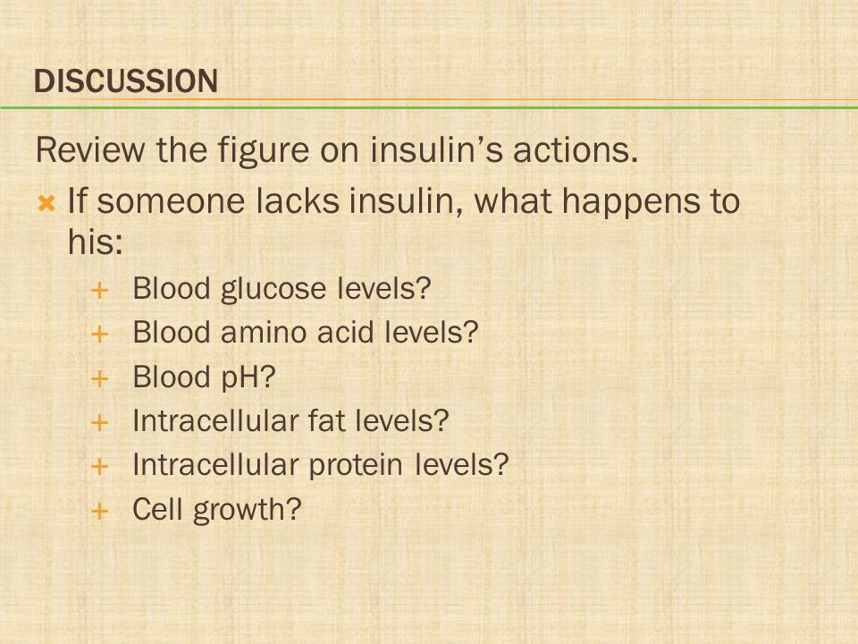 Review the figure on insulin's actions.