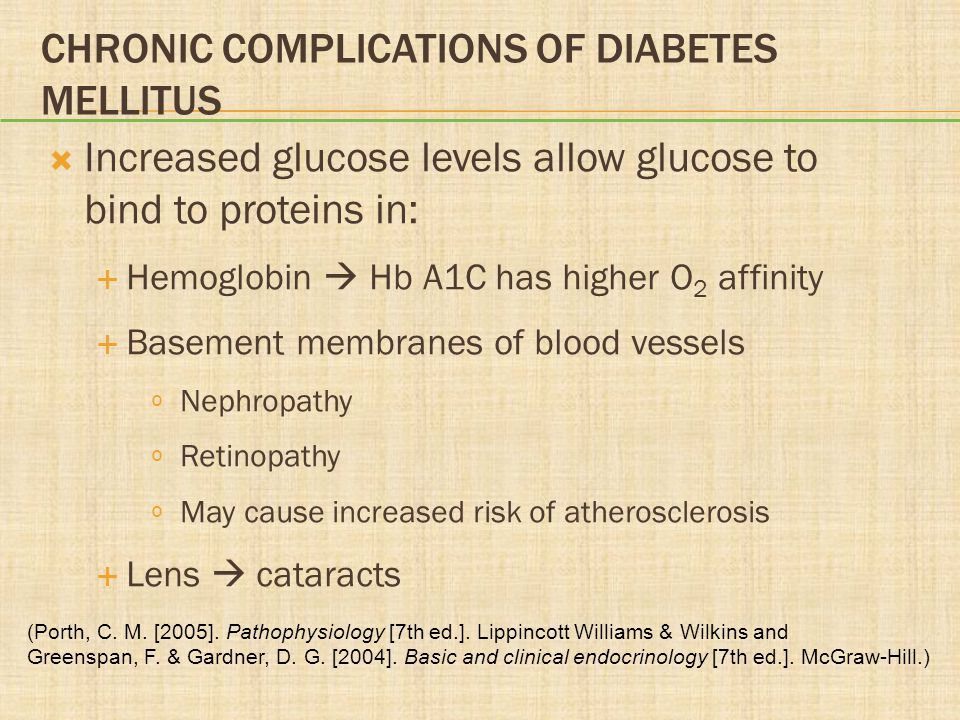 Chronic Complications of Diabetes Mellitus