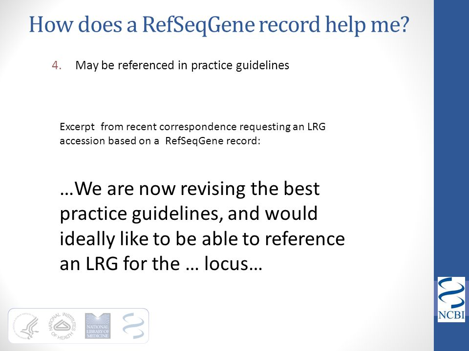 How does a RefSeqGene record help me
