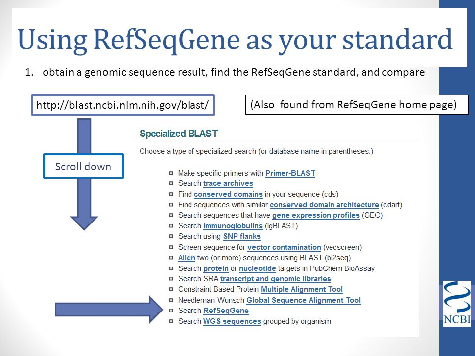 Using RefSeqGene as your standard