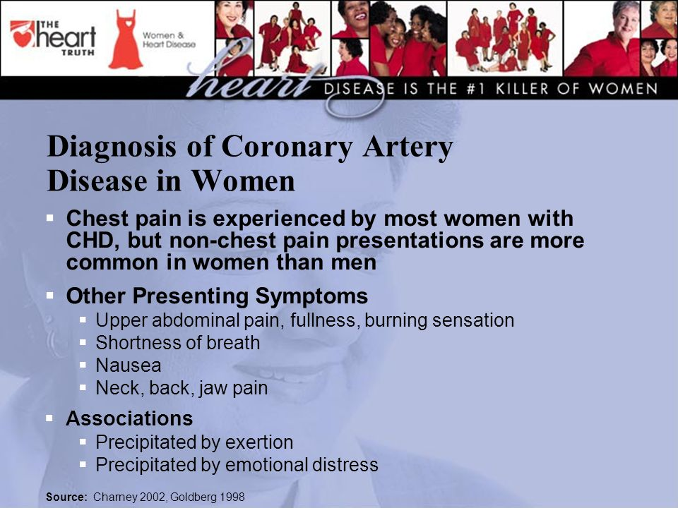 Diagnosis of Coronary Artery Disease in Women