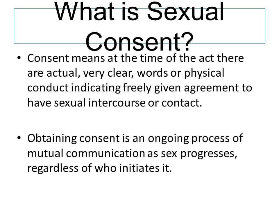 What is Sexual Consent