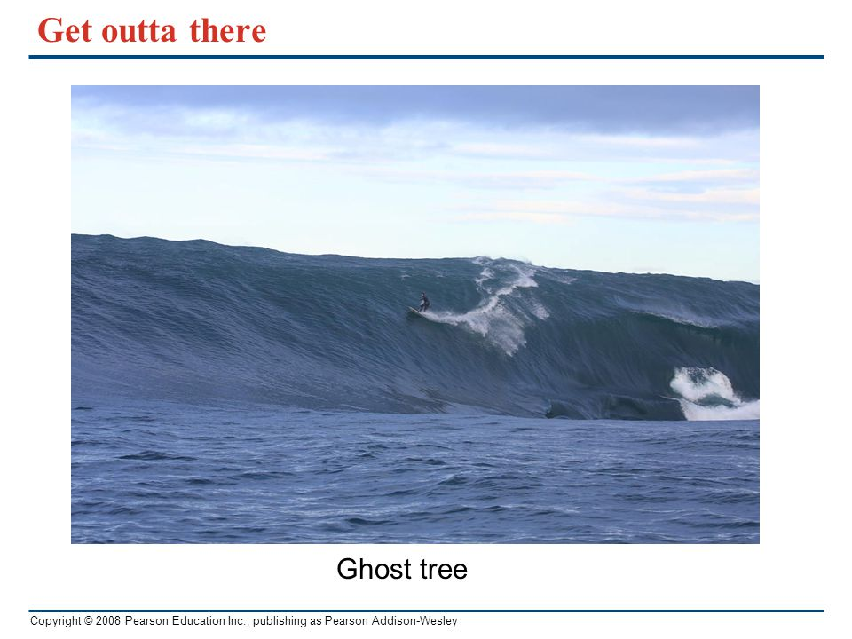 Get outta there Ghost tree