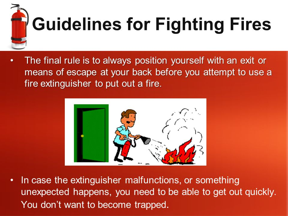 Guidelines for Fighting Fires