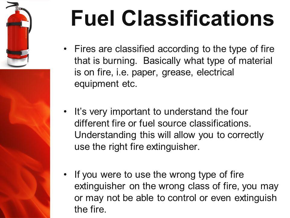 Fuel Classifications