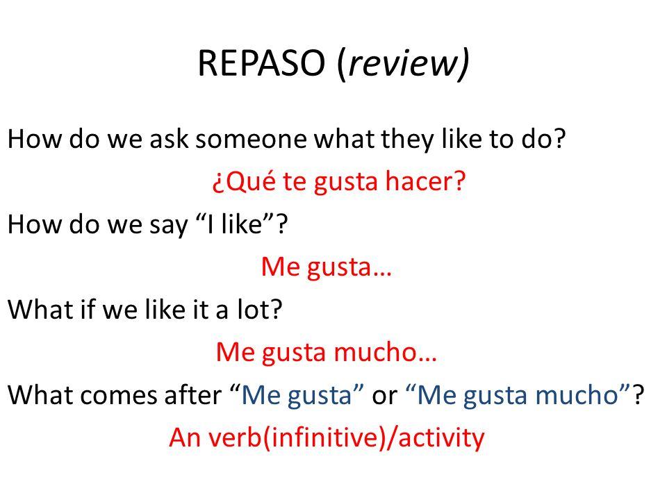 REPASO (review)