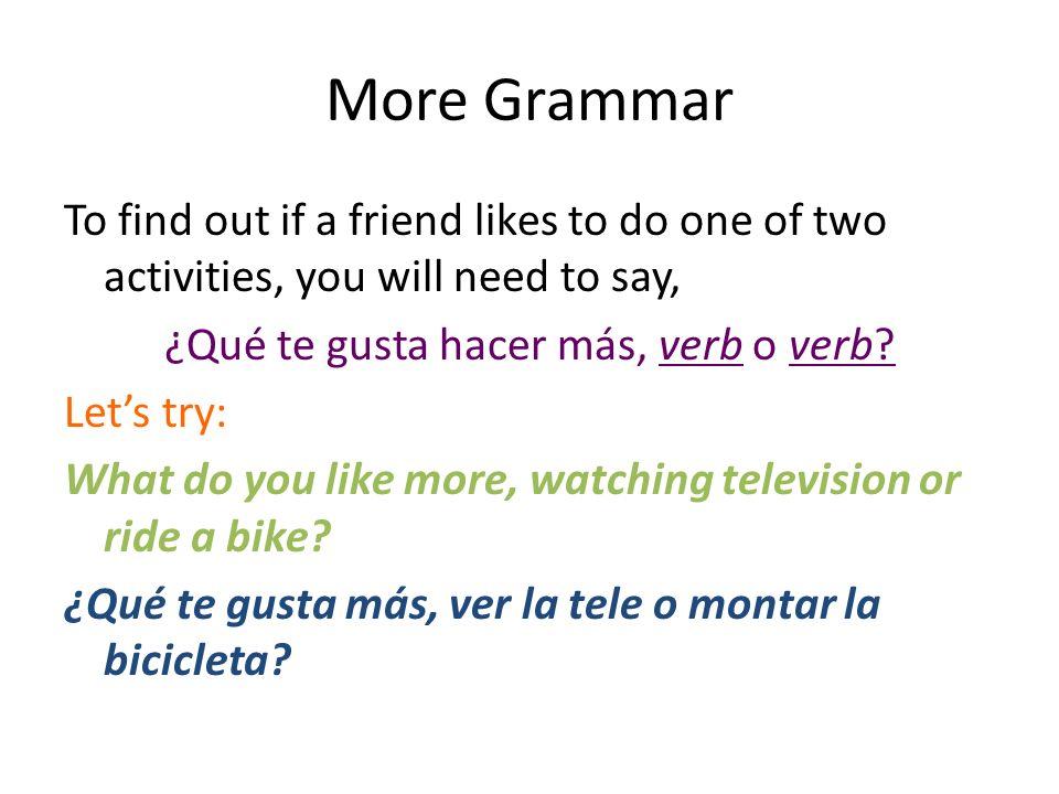 More Grammar