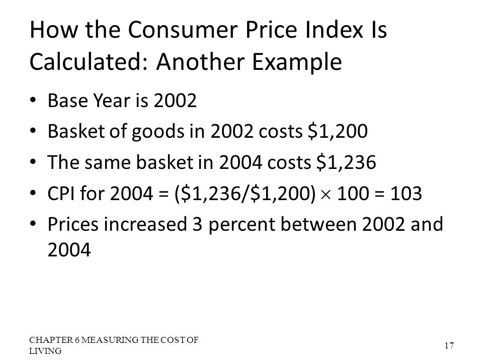 How the Consumer Price Index Is Calculated: Another Example