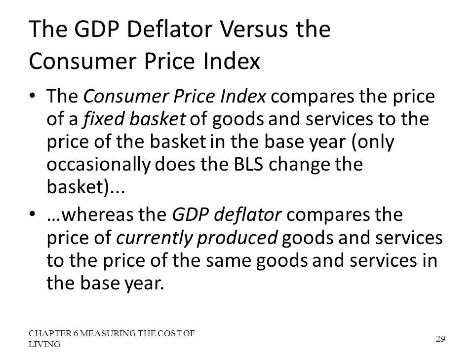 The GDP Deflator Versus the Consumer Price Index