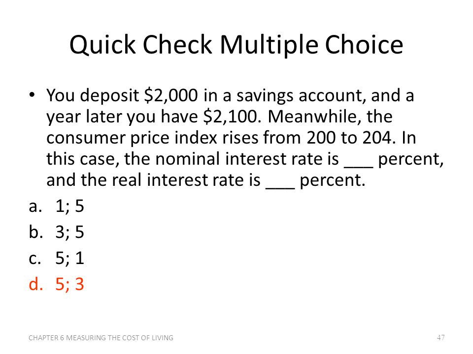 Quick Check Multiple Choice