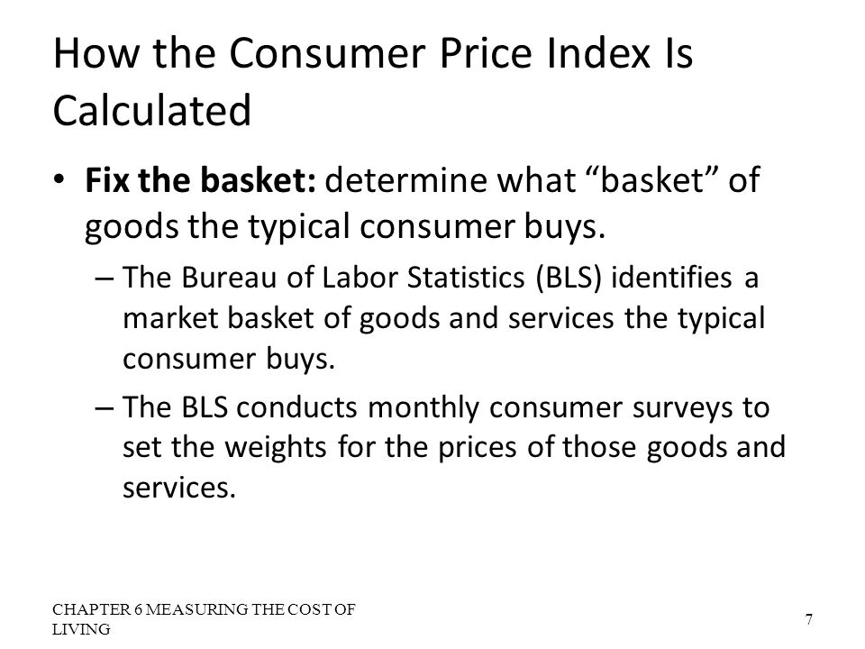 Measuring the cost of living ppt video online download - Bureau of labor statistics consumer price index ...