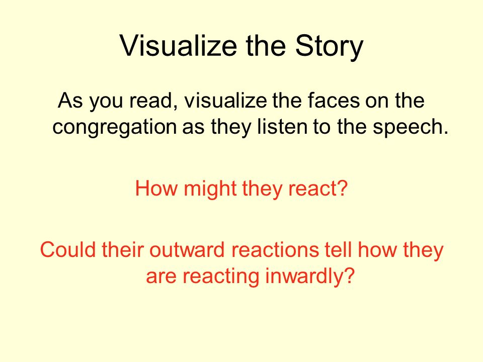 Could their outward reactions tell how they are reacting inwardly
