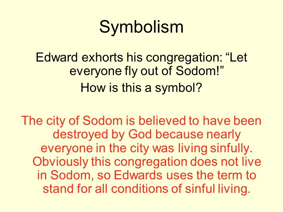 Edward exhorts his congregation: Let everyone fly out of Sodom!