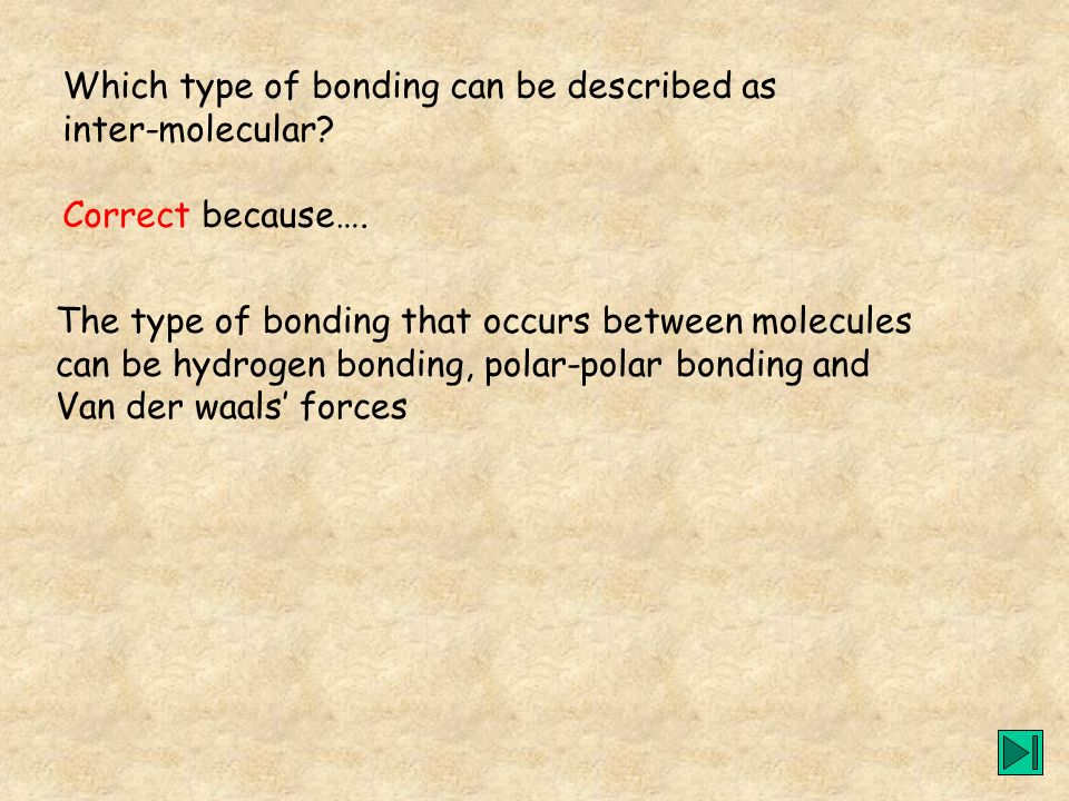 Which type of bonding can be described as