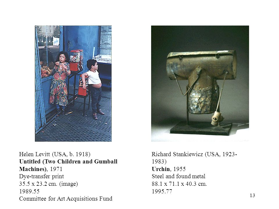 Untitled (Two Children and Gumball Machines), 1971 Dye-transfer print