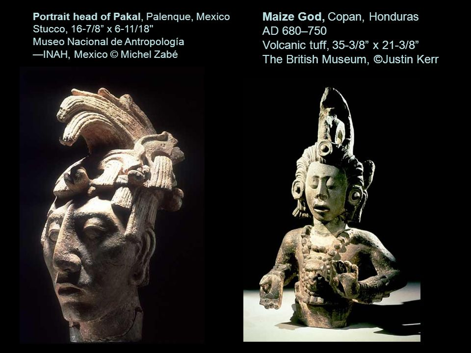 Maize God, Copan, Honduras AD 680–750 Volcanic tuff, 35-3/8 x 21-3/8