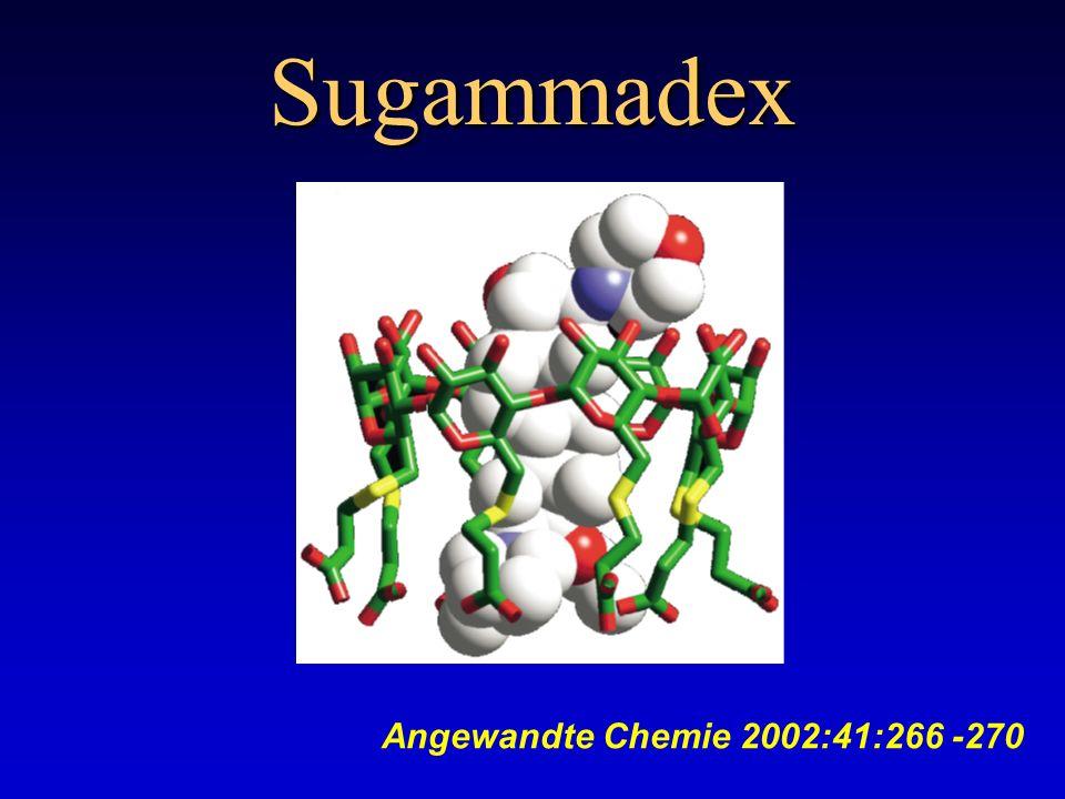 Sugammadex Angewandte Chemie 2002:41:266 -270